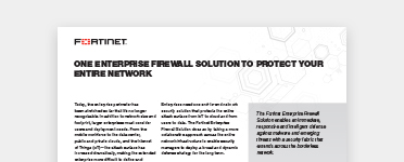 Fortinet enterprise firewall solution brief