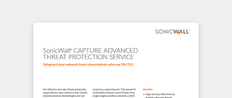 Data Sheet: SonicWall Capture Advanced Threat Protection Service