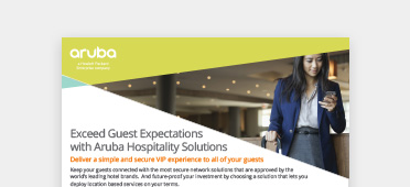 Aruba solutions for hospitality