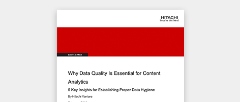 Data quality is essential for content analytics