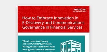 Hitachi Vantara solutions optimize financial institutions' data infrastructures to achieve data-driven objectives