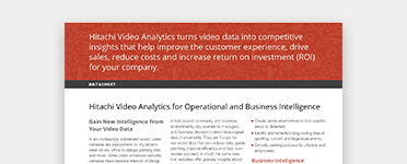 Hitachi Video Analytics data sheet