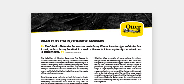 OtterBox Defender in the line of duty