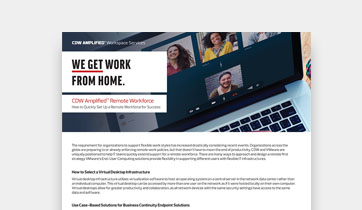 CDW Amplified™ Remote Workforce